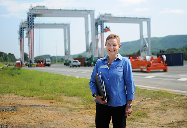 Photo of Dr. Marilyn Helms at the Inland Port
